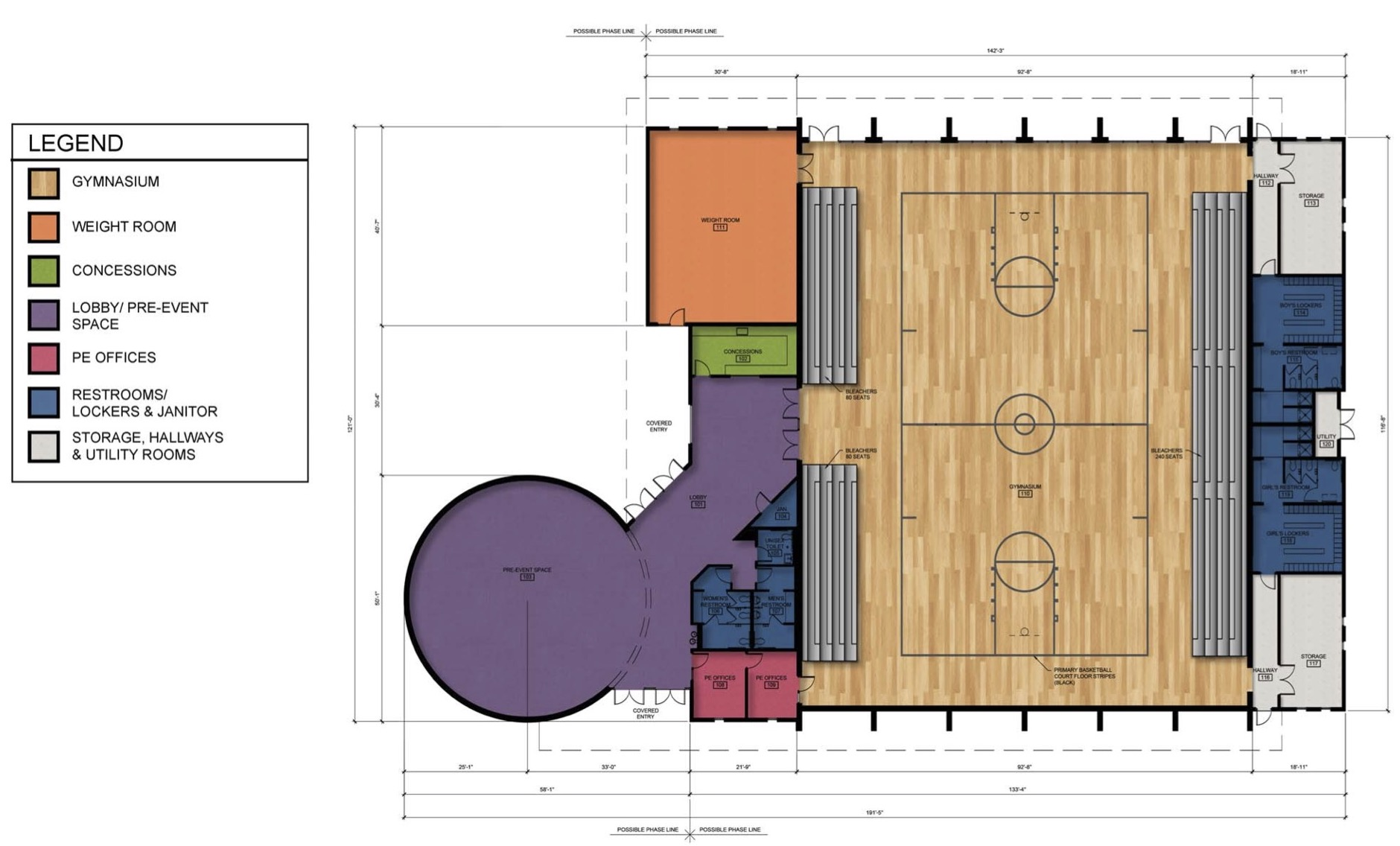 GVCC- Community Center-Gymnasium Schematic Design Drawings 10.9.19 2