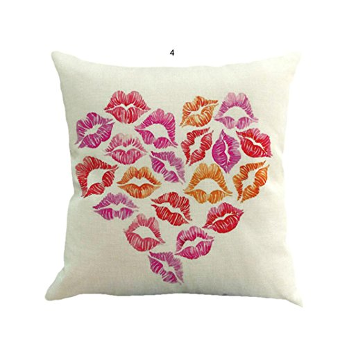 Cushion Cover Home Decor Leyorie Valentines Day Heart