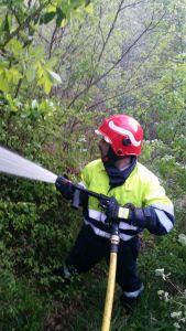 Ancora fiamme nella Valle Roveto: G.V.M. a supporto!