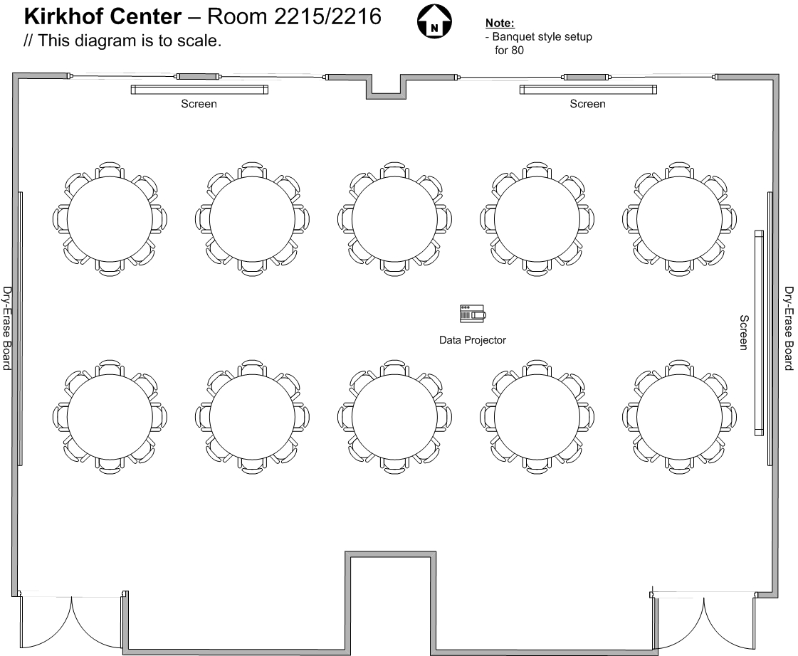 Kirkhof Center Room Capacities And Diagrams