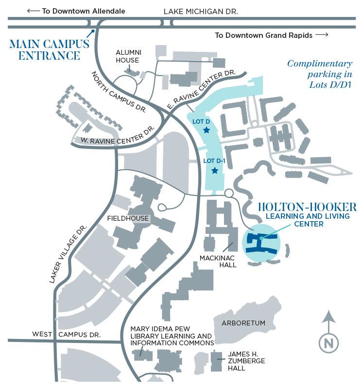 Gvsu Campus Map 2016.Grand Valley State University Campus Map
