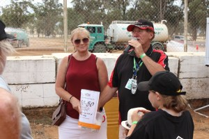 Drawing the winning ticket to our 50/50 Raffle Highlights from Shannon's Classic Vintage Speedway event Illabo Motorsport Park -- March 10, 2019 Photo by Tristan Levy Photography