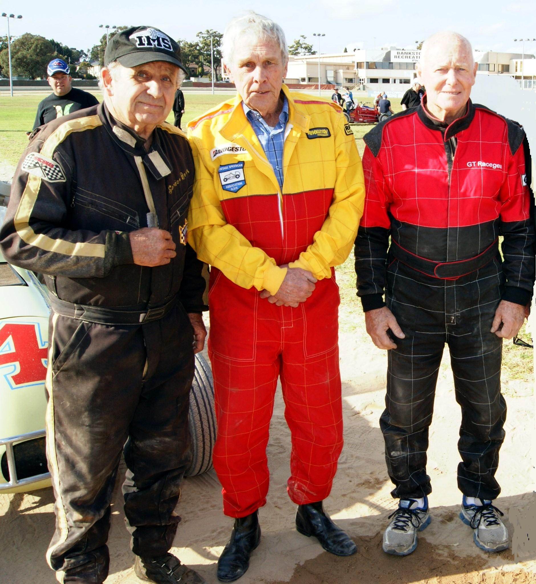 Gordon Benny, Bob Pymble & Peter Bowland Vintage Speedcar Tribute Meeting