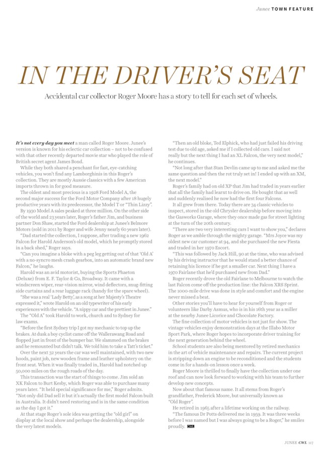 In the Drivers Seat - Central West Lifestyle Magazine Page 117
