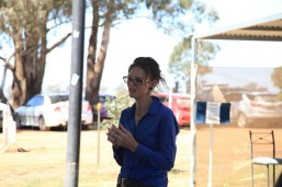 Steph Cooke MP giving the Opening Speech for the new amenity block -- Illabo Motorsport Park March 10, 2021