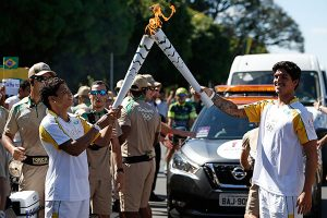 olympic torch exchange