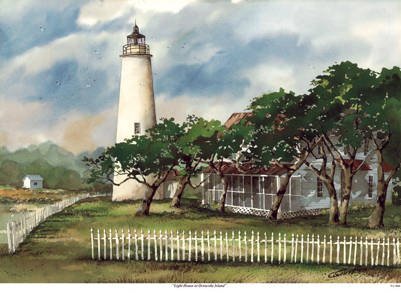 Lighthouse at Ocracoke Island
