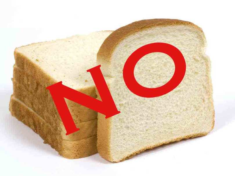 no to white bread and flour gail weissert weight loss maryland