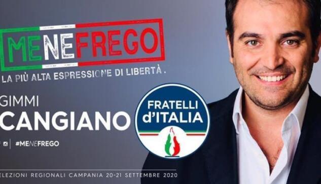 Motto fascista come slogan per un candidato alle elezioni regionali in Campania - Gwendalina.tv
