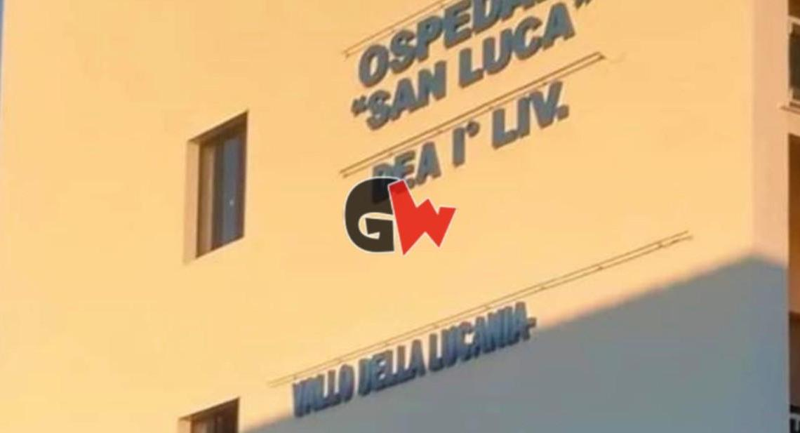 Insegna scritta Ospedale San Luca Vallo della Lucania senza Agropoli