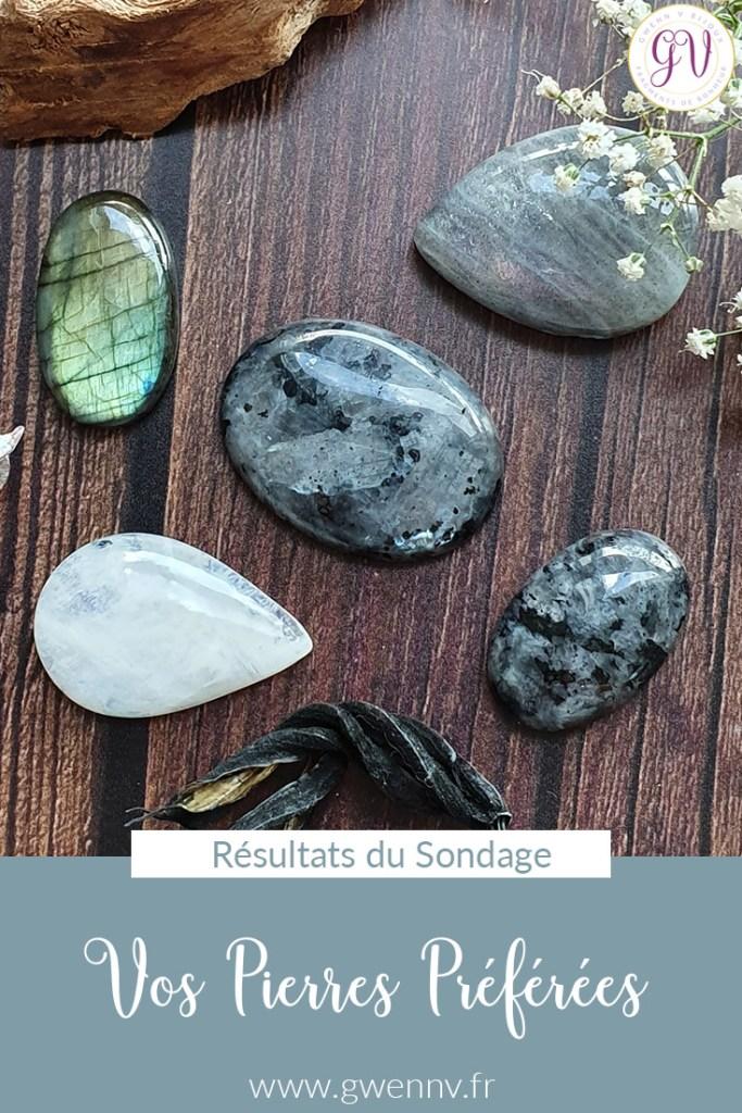 Résultats du Sondage : Vos pierres préférées