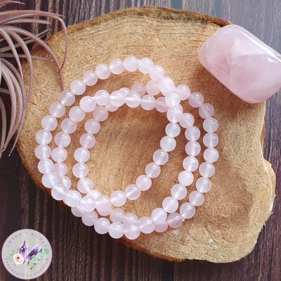 bracelet stretch en quartz rose