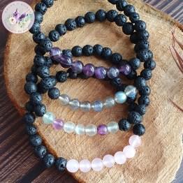bracelet stretch pierre de lave