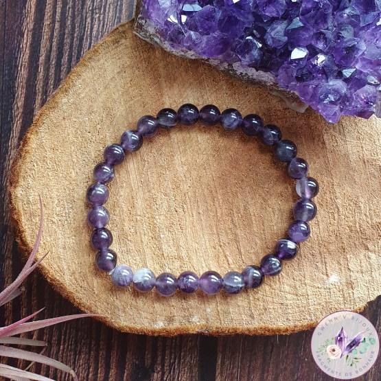 bracelet stretch en améthyste