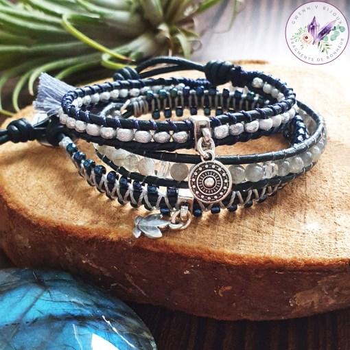 bracelet wrap labradorite