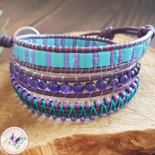 bracelet wrap améthyste