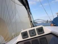 Elan 340 G-whizz tight reach towards the Bridge