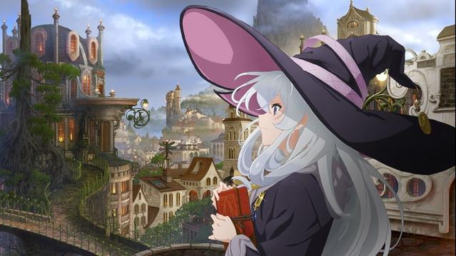 Elaina, seorang penyihir pengembara, berkeliling kota megah dalam visual kunci baru untuk anime The Journey of Elaina TV mendatang.
