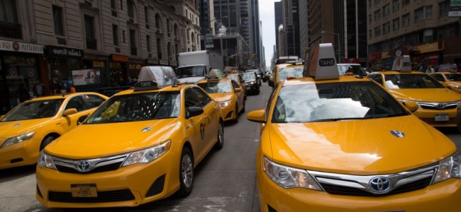 many taxi on road