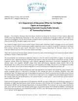 Gwinnett SToPP IE2 OCR Complaint Investigation