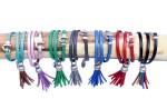 Bracelets cuir femme 3 tours Pompon