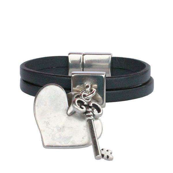 """Bracelet enfant fille cuir """"Secret"""""""