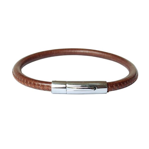 Bracelet cuir homme surpiqué Nomade