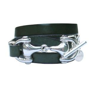 Bracelet femme cuir Mors De Cheval triple tour 1
