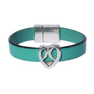 "Bracelet enfant fille ""Coeur"" vert turquoise"