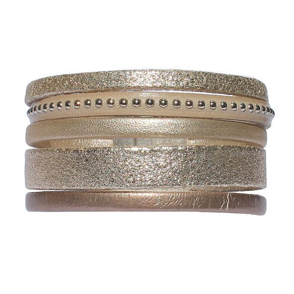 """Bracelet femme cuir manchette """"Saint-Tropez"""" 1"""