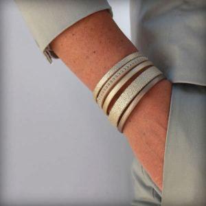 """Bracelet femme cuir manchette """"Saint-Tropez"""" 4"""