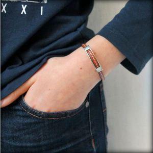 "Bracelet enfant cuir bijou ""Gourmette"" 2"