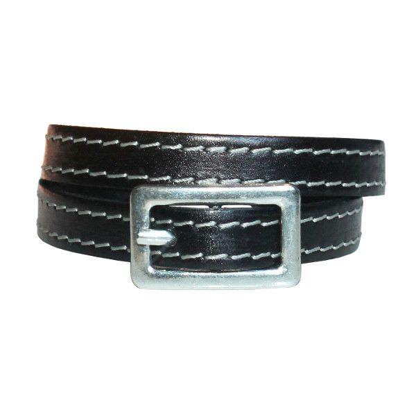 Bracelet homme cuir Boucle de Ceinture cuir surpiqué