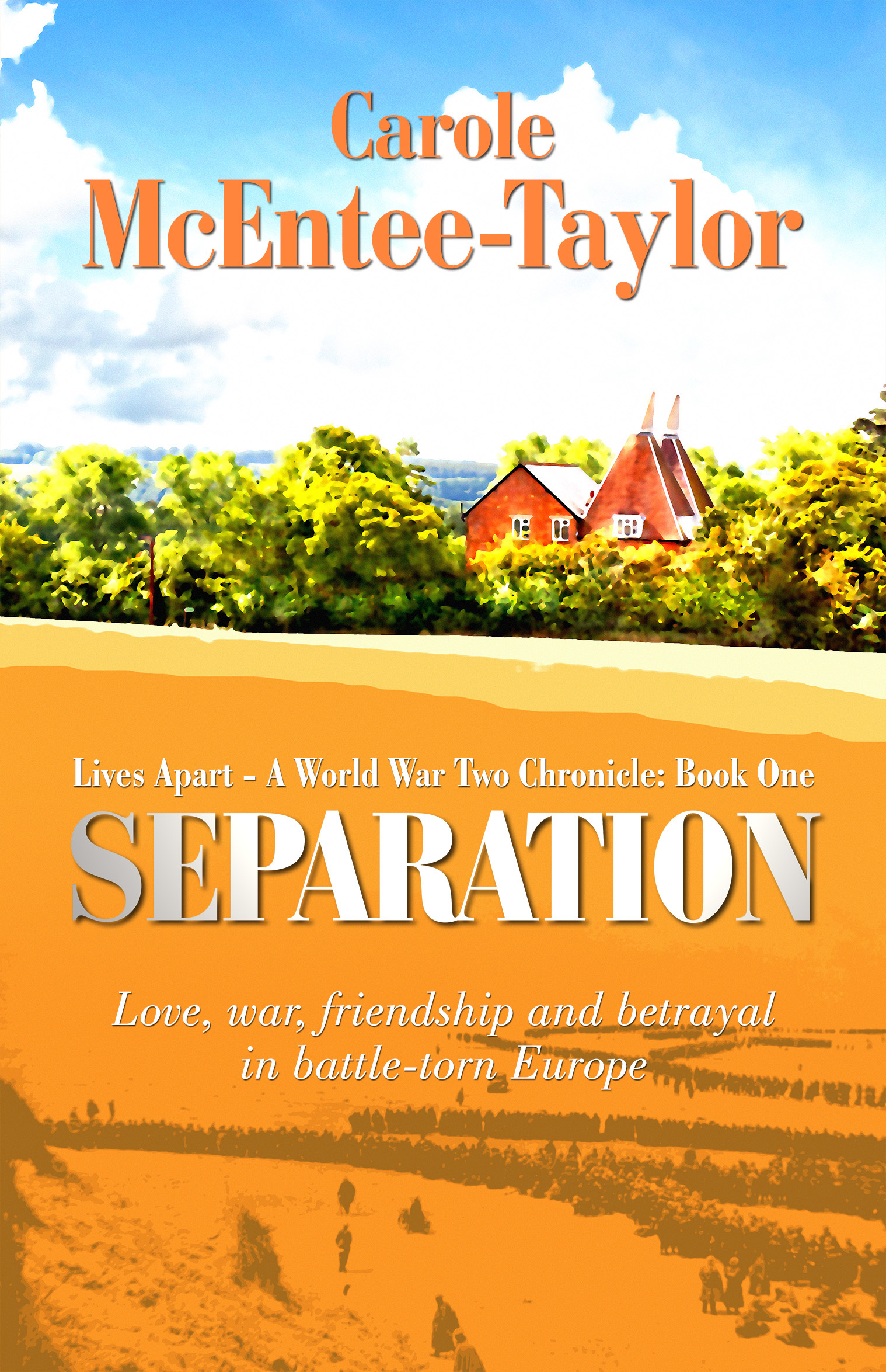Separation by Carole McEntee-Taylor front cover graphic image.