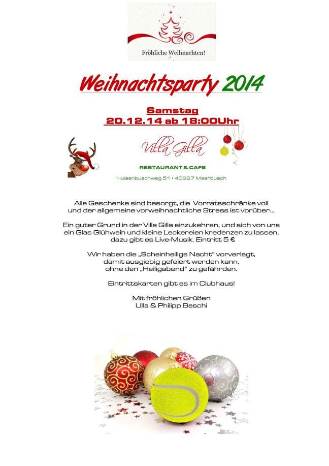 Flyer (Weihnachtsparty) 2014