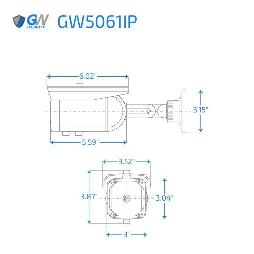 5061IP dimensions