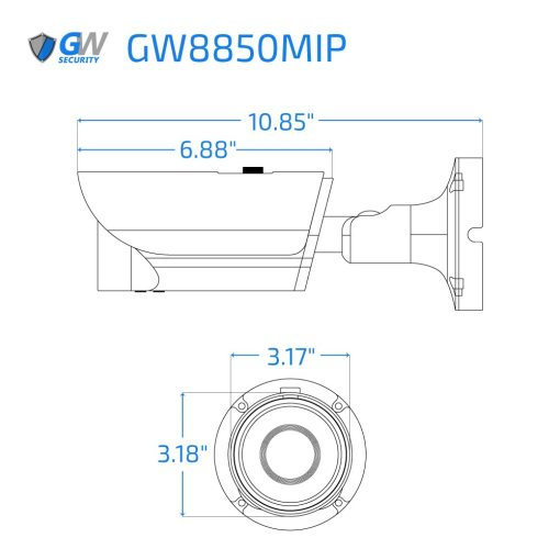 8850MIP dimensions
