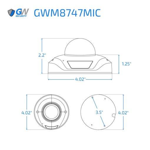 8747MIC dimensions