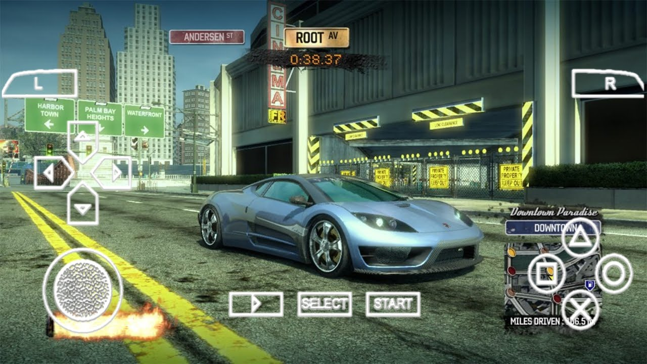 BURNOUT LEGENDS PPSSPP ISO