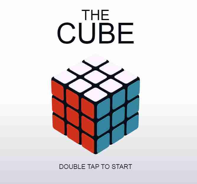Online Rubik's cube game