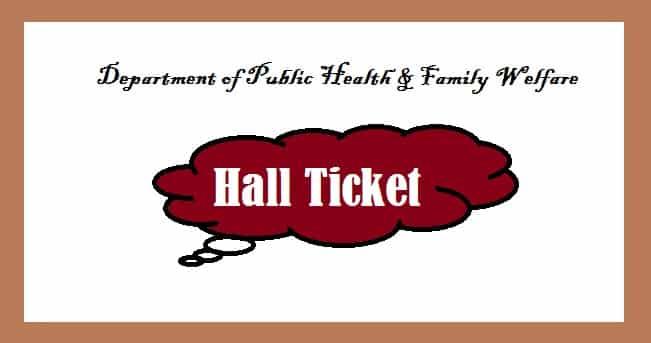 AP Health Dept MLP Hall Ticket