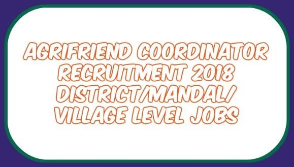Agrifriend Coordinator Recruitment