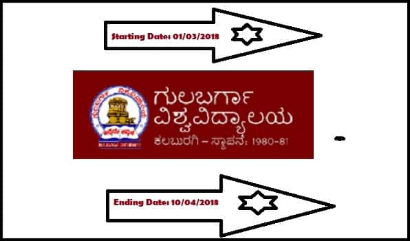 Gulbarga University Asst Professor Recruitment