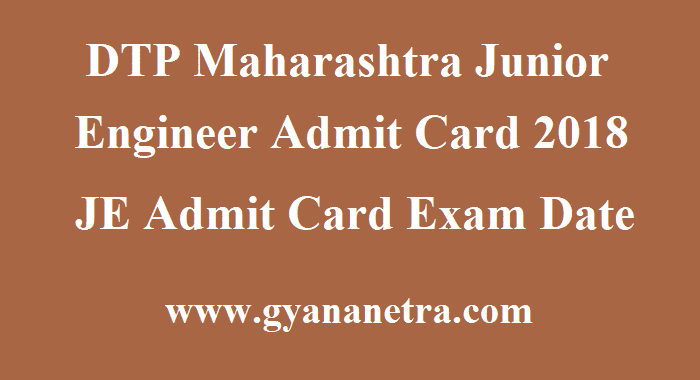 DTP Maharashtra Junior Engineer Admit Card