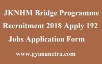 JKNHM Bridge Programme Recruitment