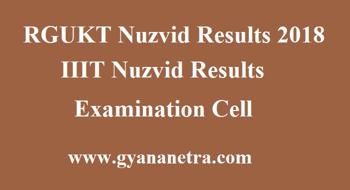 RGUKT Nuzvid Results