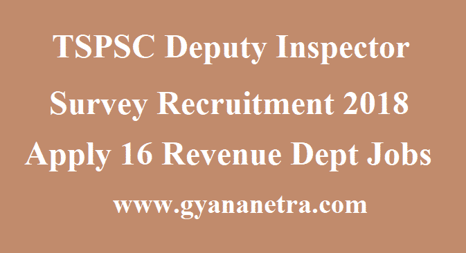 TSPSC Deputy Inspector Survey Recruitment