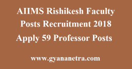 AIIMS Rishikesh Faculty Posts Recruitment