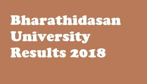 Bharathidasan University UG Results