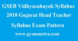 GSEB Vidhyasahayak Syllabus